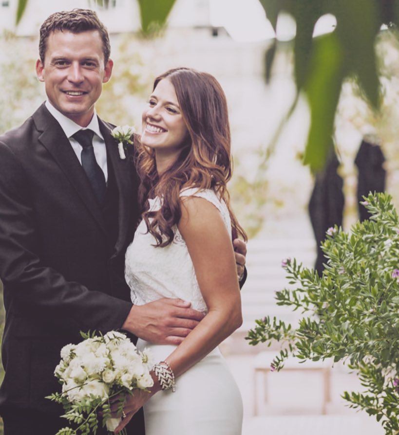 Evan Felker and his then wife Staci Nelson on their wedding