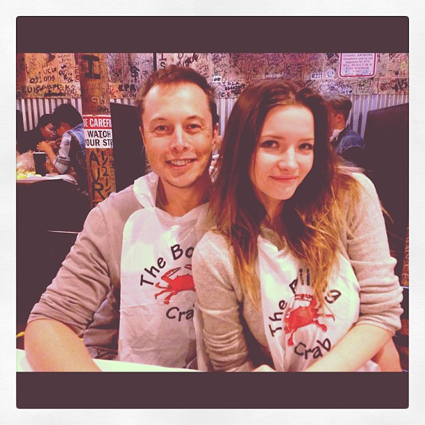 Talulah Riley and Elon Musk are wearing same t-shirt