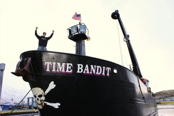 Axel Hillstrand aboard the F/V Time Bandit.