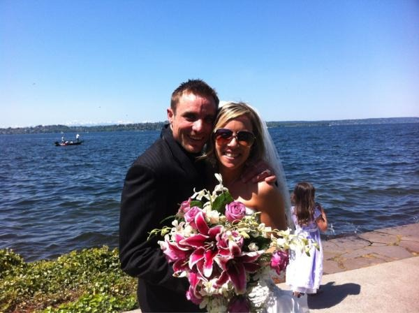Jake Anderson with his wife