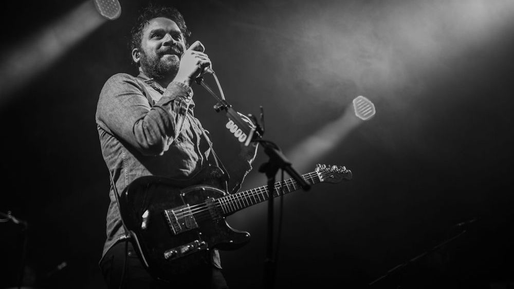 Scott Hutchison performing with his band on April 30.