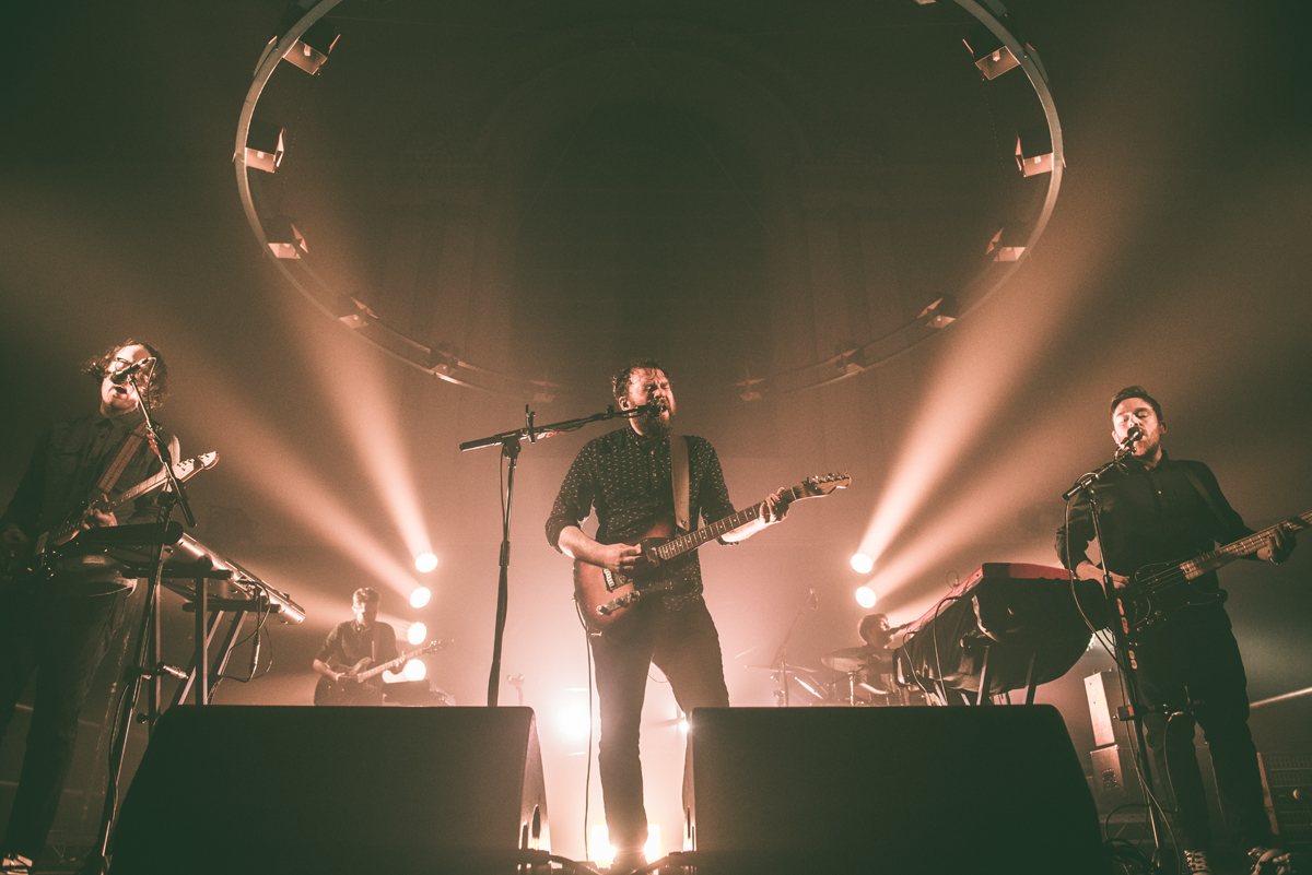 Scott Hutchison performing with his band members.
