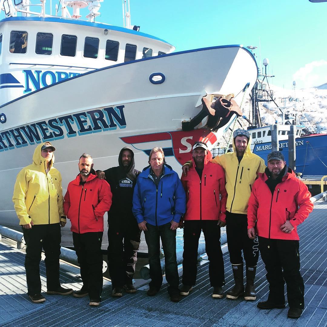 Clark Pederson with his crew members