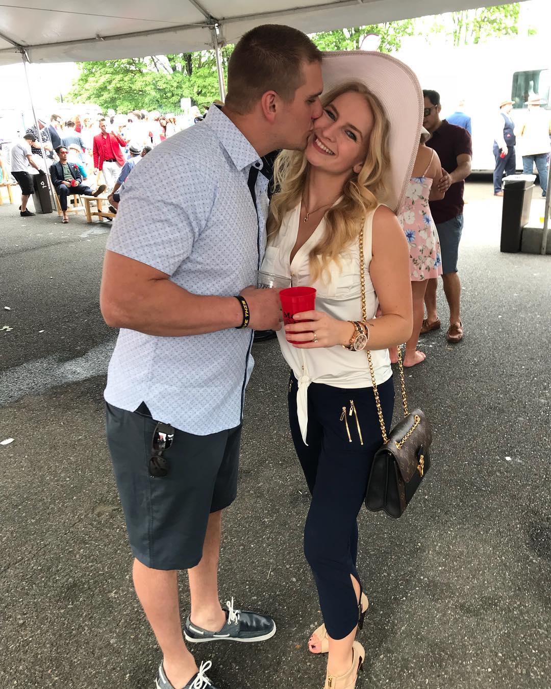 Clark Pederson with his wife Mandy Hansen