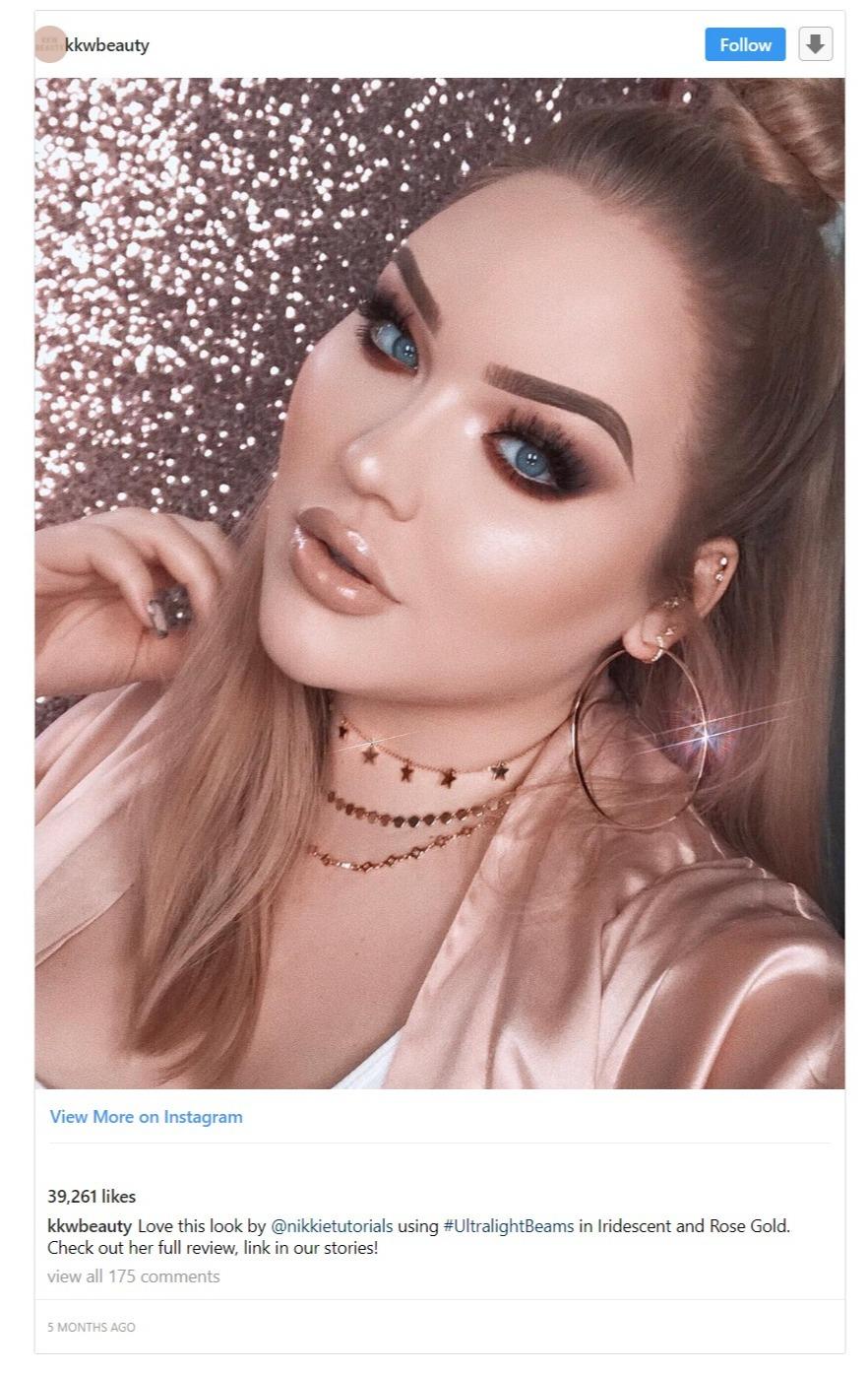 Nikkie De Jager appearing in Kim Kardashian West's Instagram page, KKW