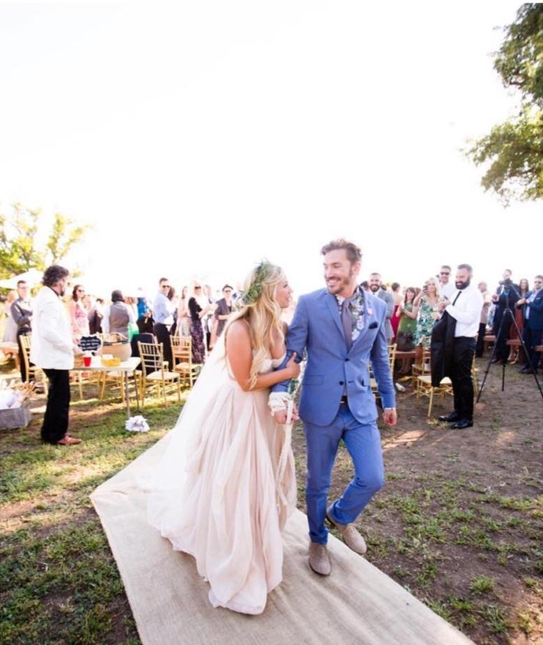 Vanessa Ray with her husband, Landon Beard