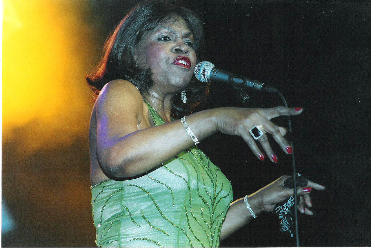 The soul singer, Maxine Brown performing at Colne 2005