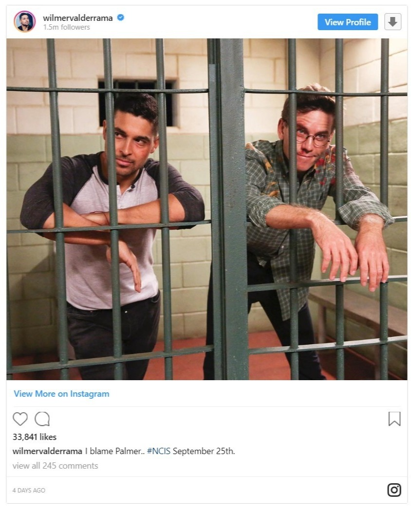 Wilmer Valderrama's Instagram post hinting about NCIS season 16 with his co-actor, Brian Dietzen