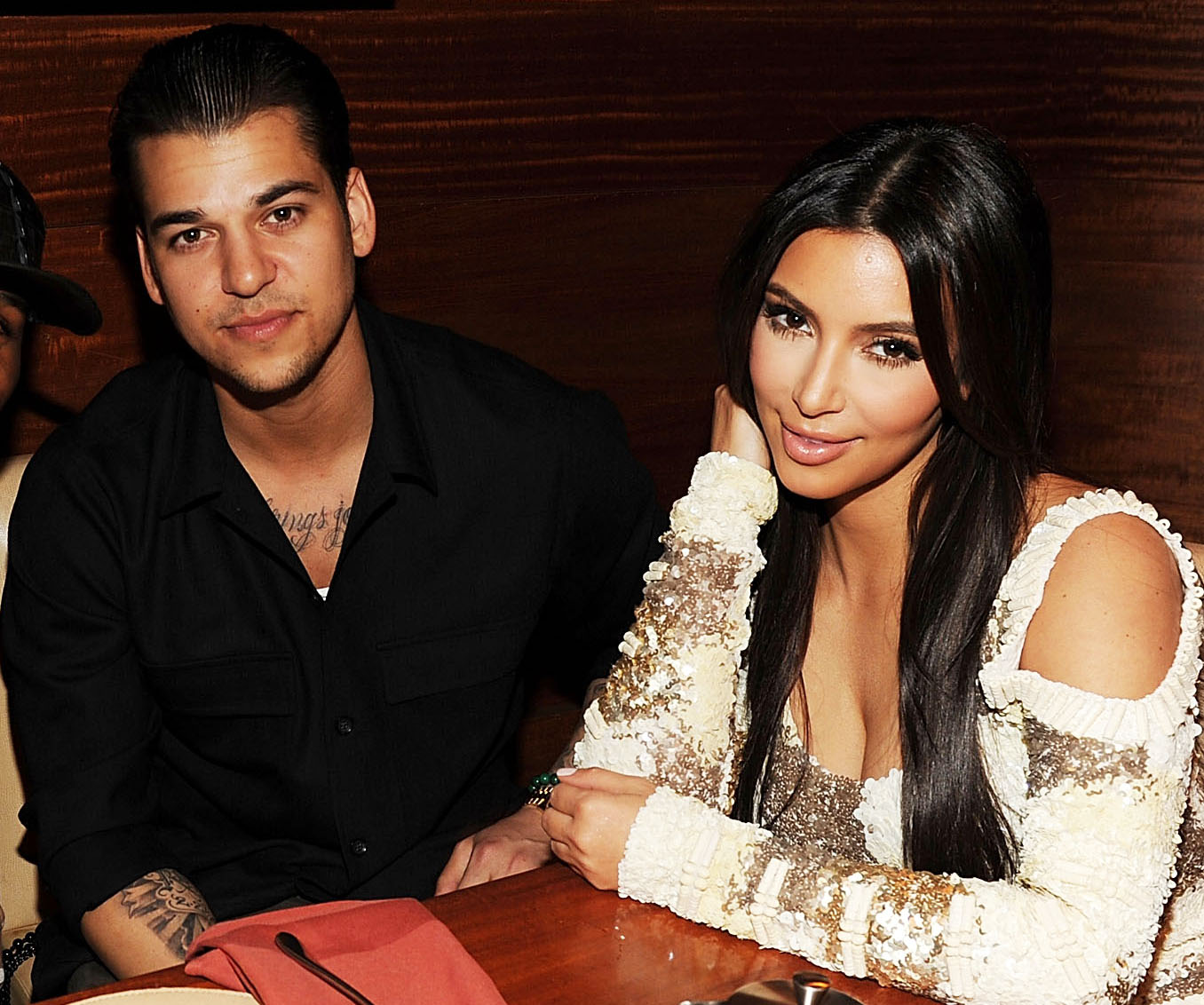 Rob Kardashian with sister, Kim Kardashian