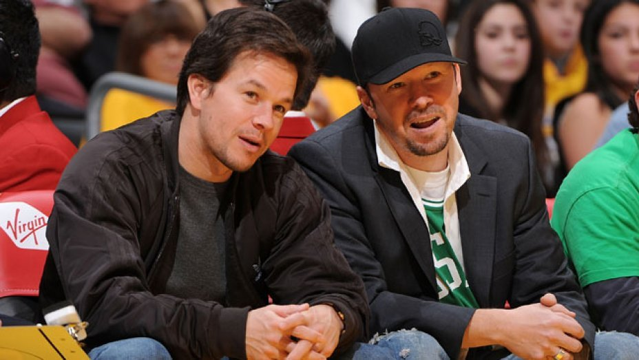 Mark Wahlberg with his brother, Donnie Wahlberg