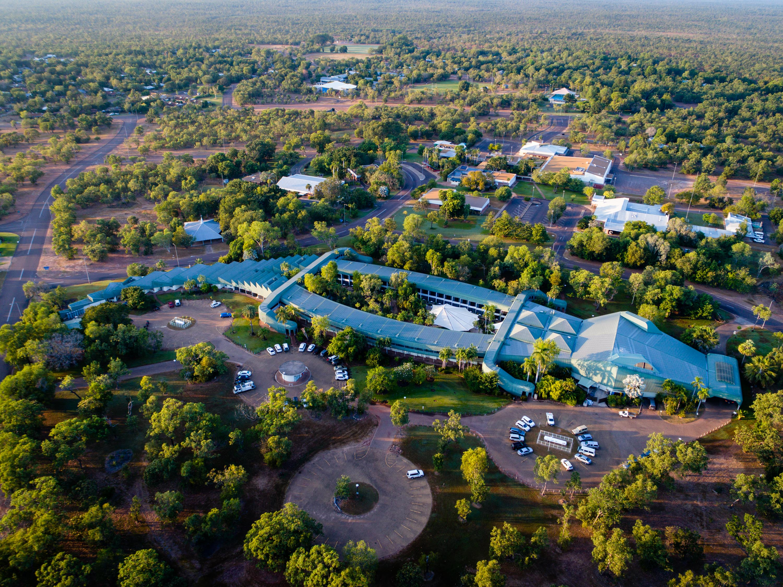 Crocodile shaped hotel in Kakadu National Park