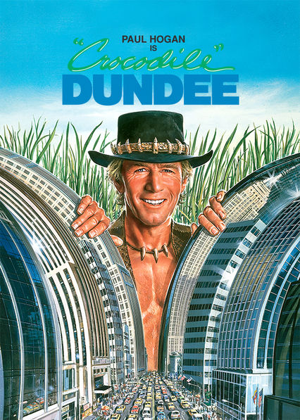 Crocodile Dundee's poster featuring Paul Hogan mainly targeting the USA
