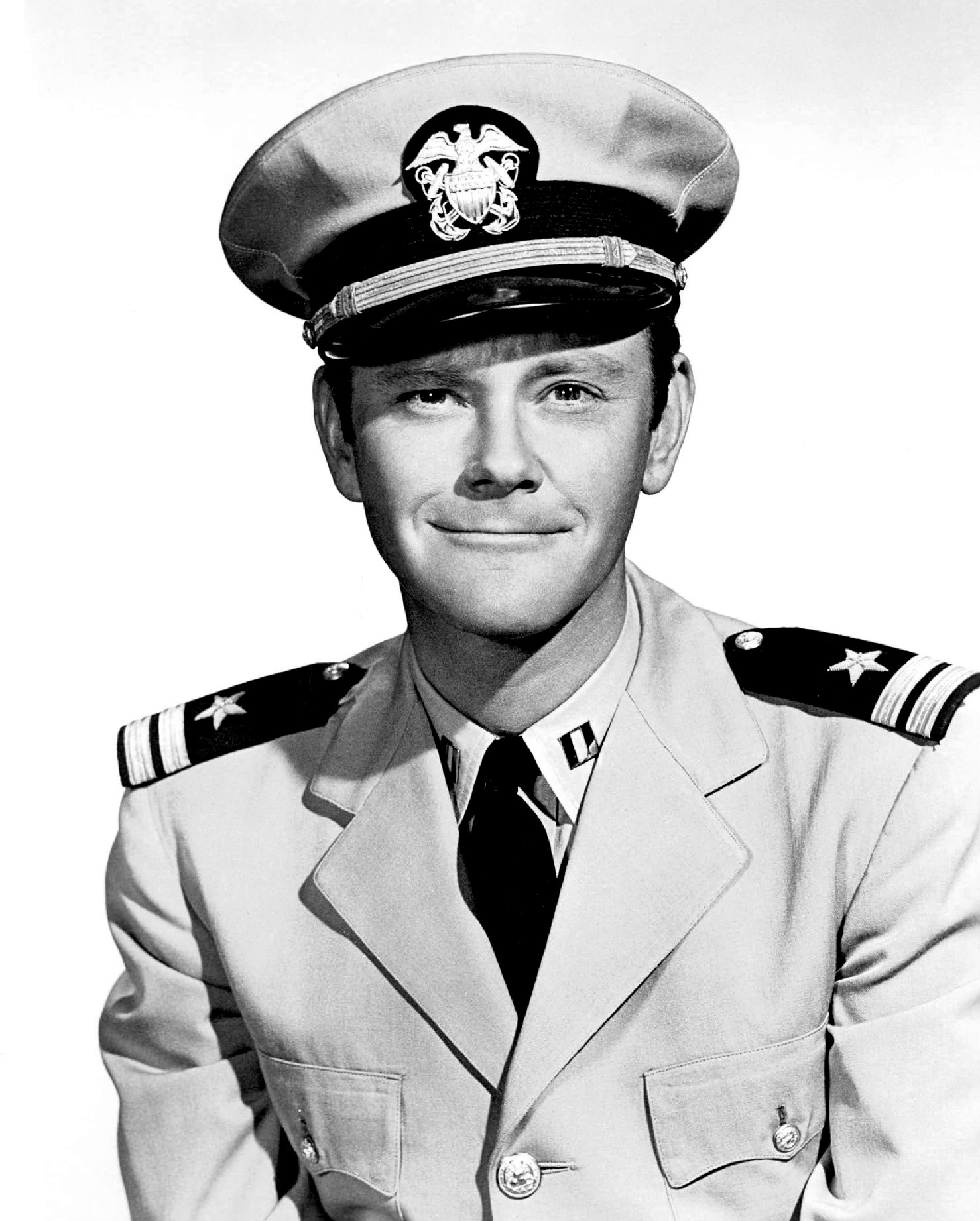 Young Dick Sargent in military uniform
