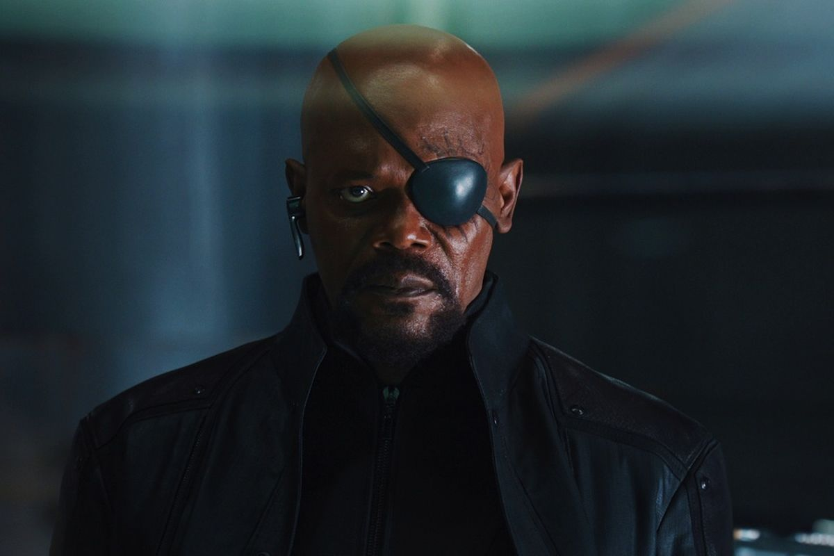 Nick fury with his eye patch on