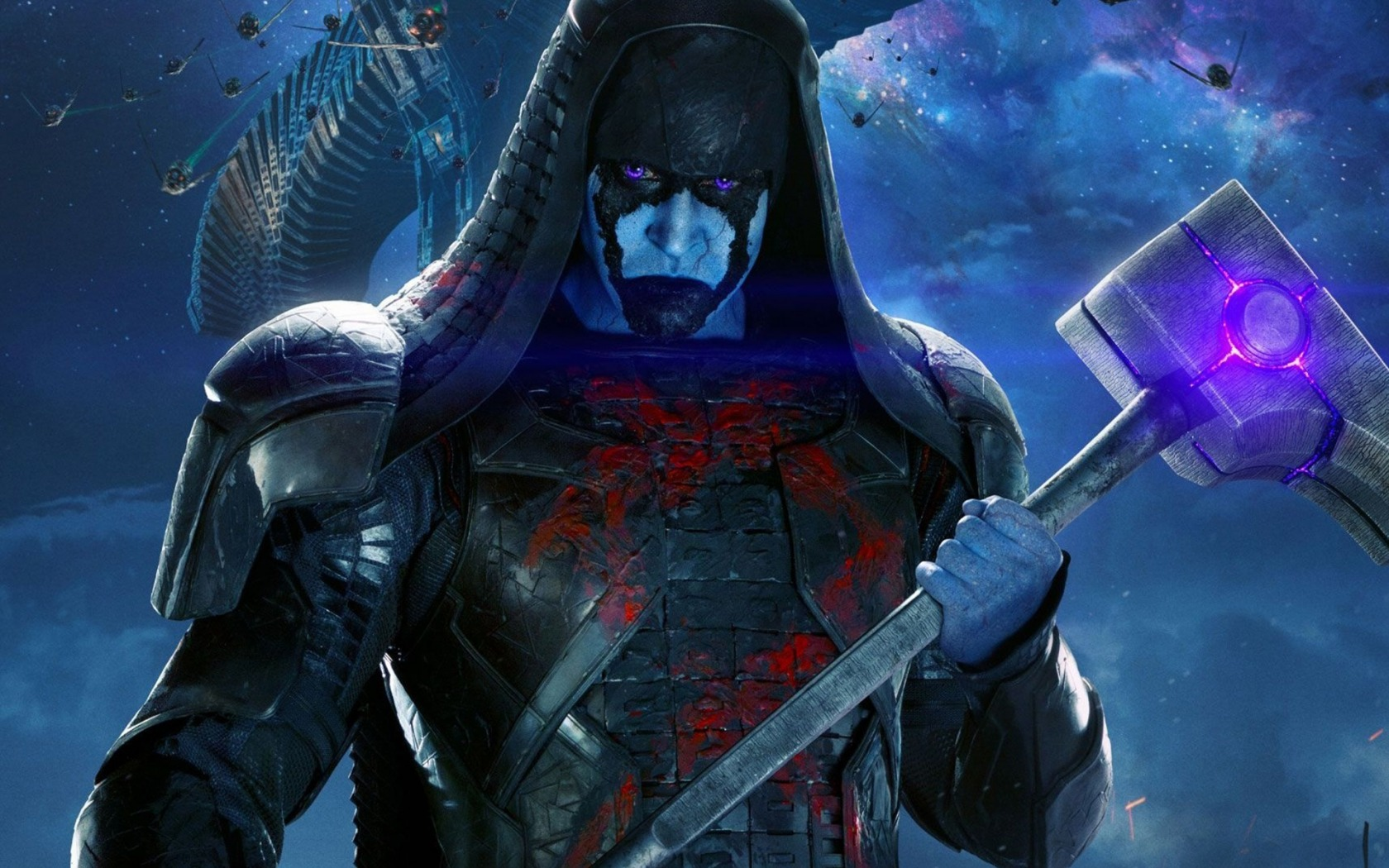 Ronan the Accuser. he is holding a hammer