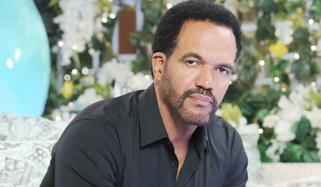 Kristoff St. John looking serious. He is wearing a black shirt.