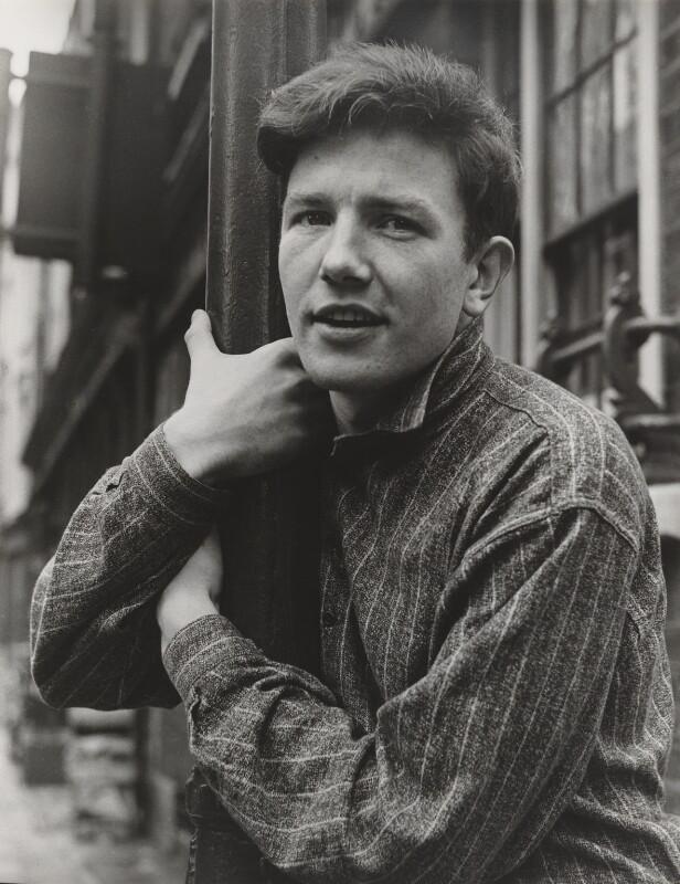 Black and white image of Albert Finney