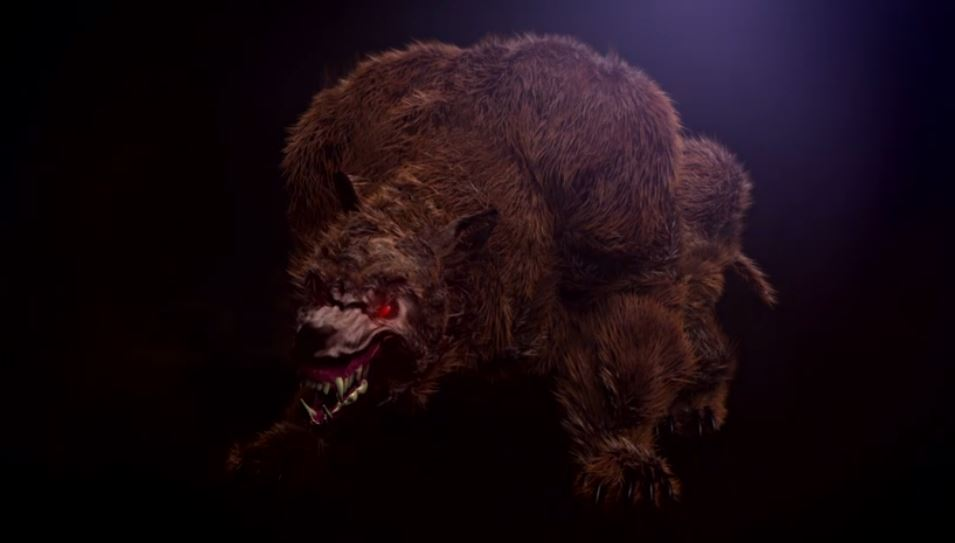 A computer rendered image of a 'monster' used in the show