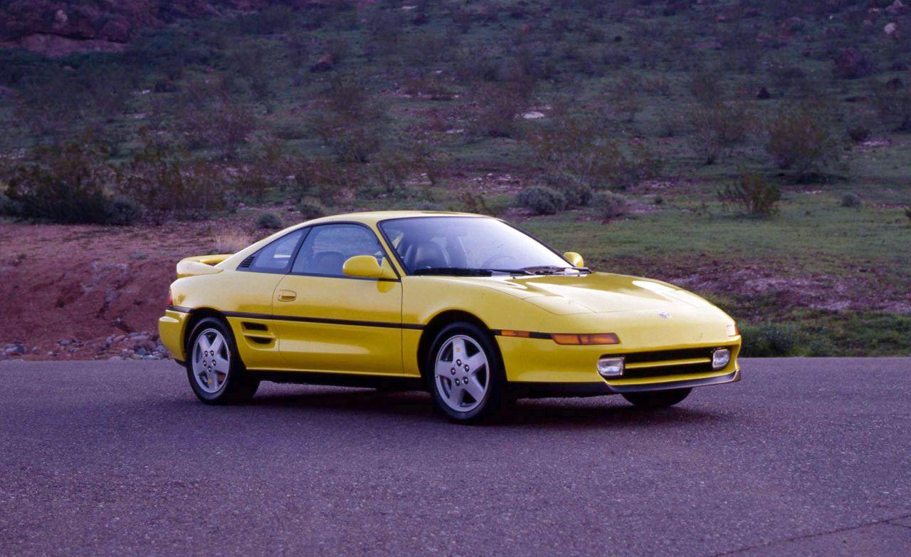 Yellow 1991 toyota mr2 turbo