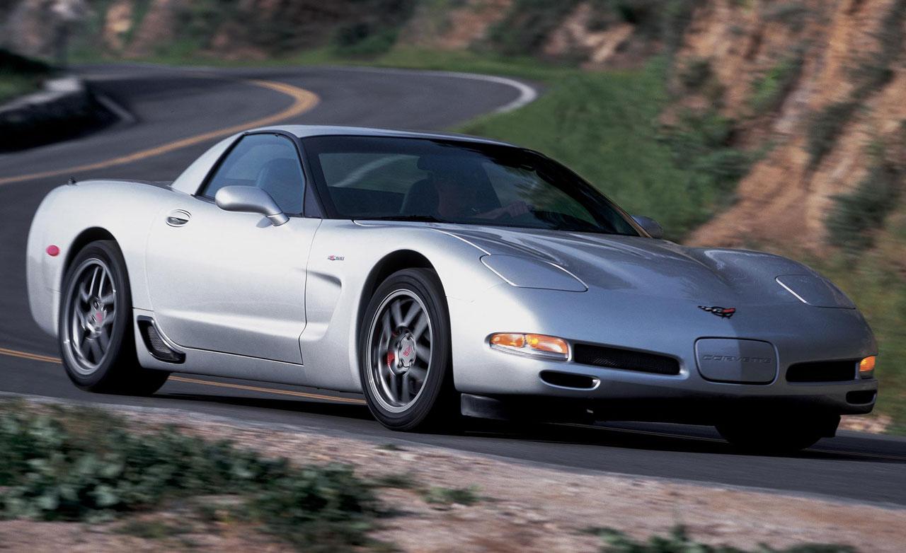 silver 2002 Corvette C5 Z06 on the road