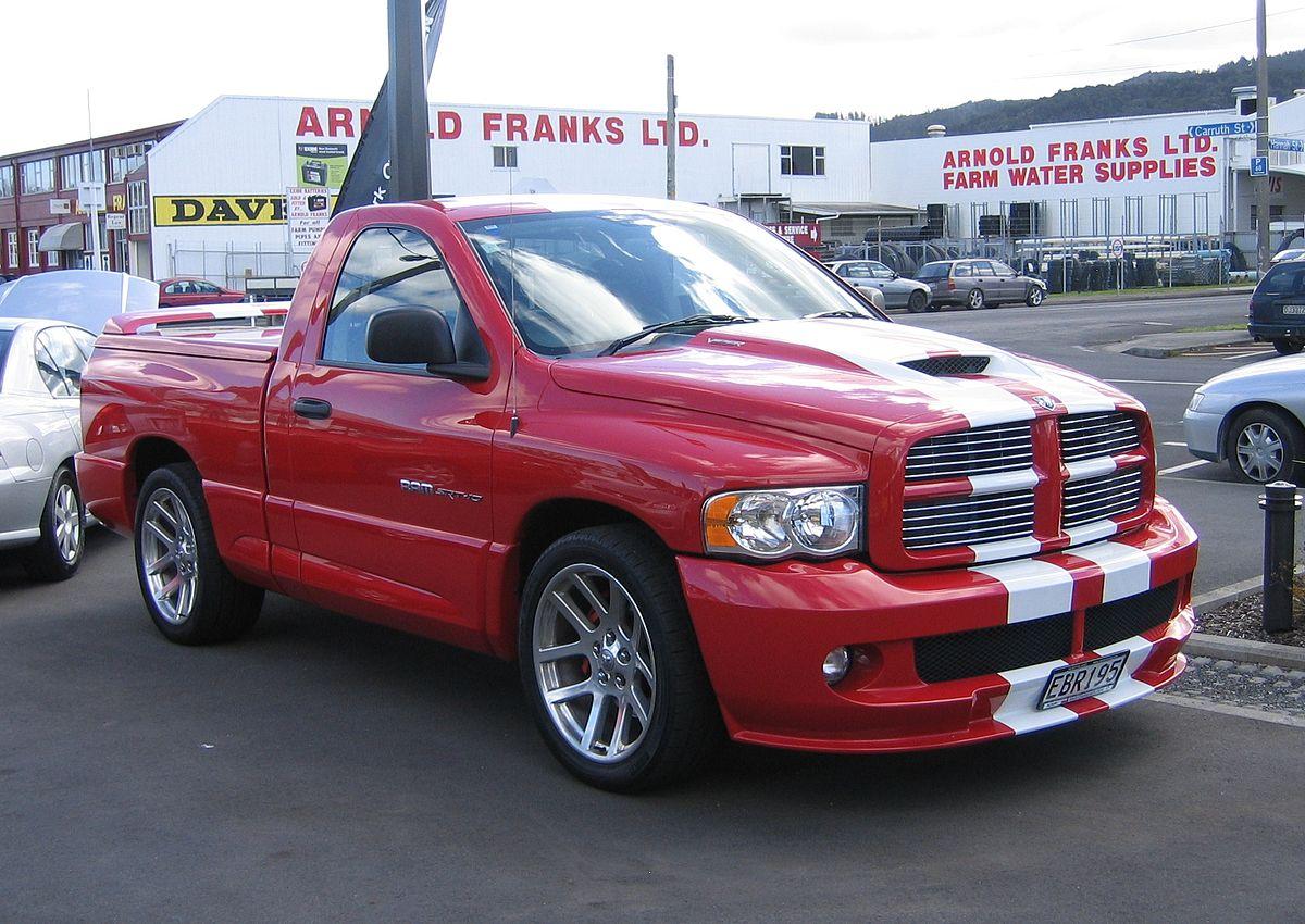 red 2004 Dodge Ram SRT-10