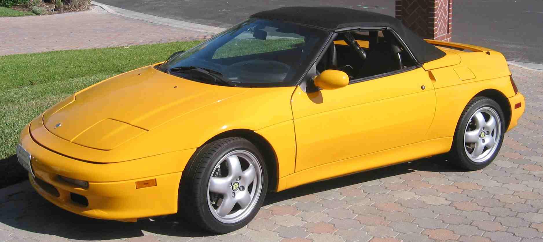 yellow 1991 Lotus Elan M100