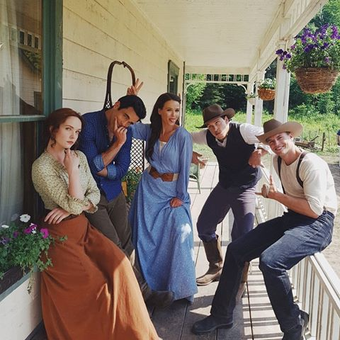 Some of the cast of When Calls the Heart: The Greatest Christmas Blessing will return in When Hope Calls. The cast also includes Ryan J. Hatanaka as Gabriel the Brookfield Mountie, Greg Hovanessian as Chuck the Ranch Hand and Wendy Crewson as Tess, Chuck's mother.