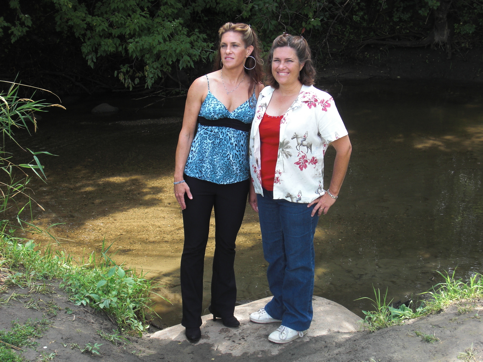 Both Lindsay Greenbush and Sidney Greenbush standing near a pond. After the show ended, they appeared in numerous commercials. In 1983, Sidney appeared in the film, Hambone and Hillie, and Lindsay had a guest appearance in one of the episodes of 'Matt Houston.' After that, they took leave from acting and focused on schooling. They graduated from Santa Monica High School in 1988.