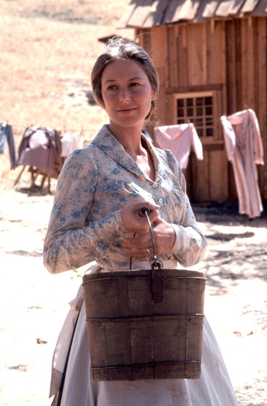 "Karen Grassle as Caroline ""Ma"" Ingalls. She portrayed the role in 182 episodes of 'Little House on the Prairie.'"
