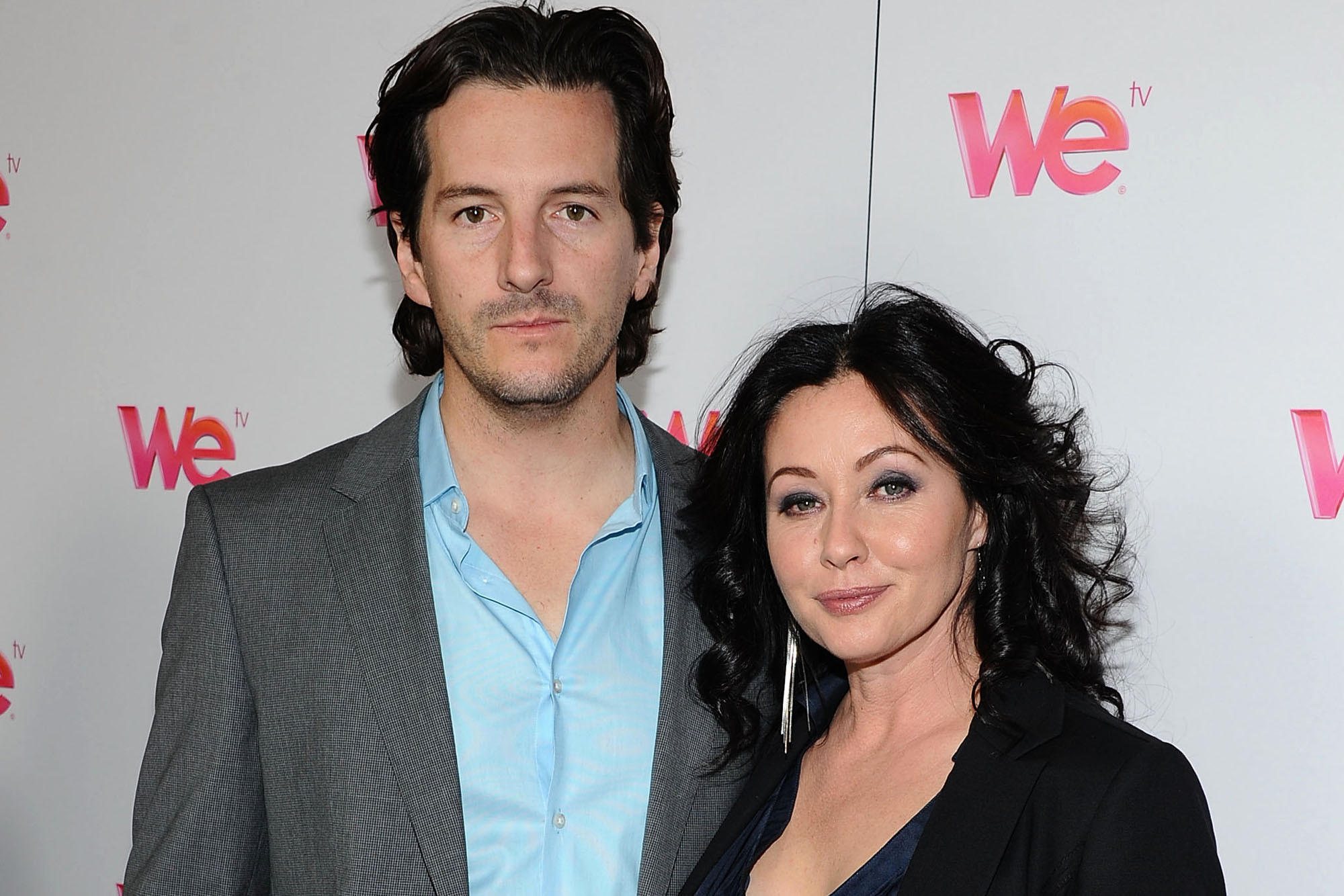 Shannen Doherty with her husband