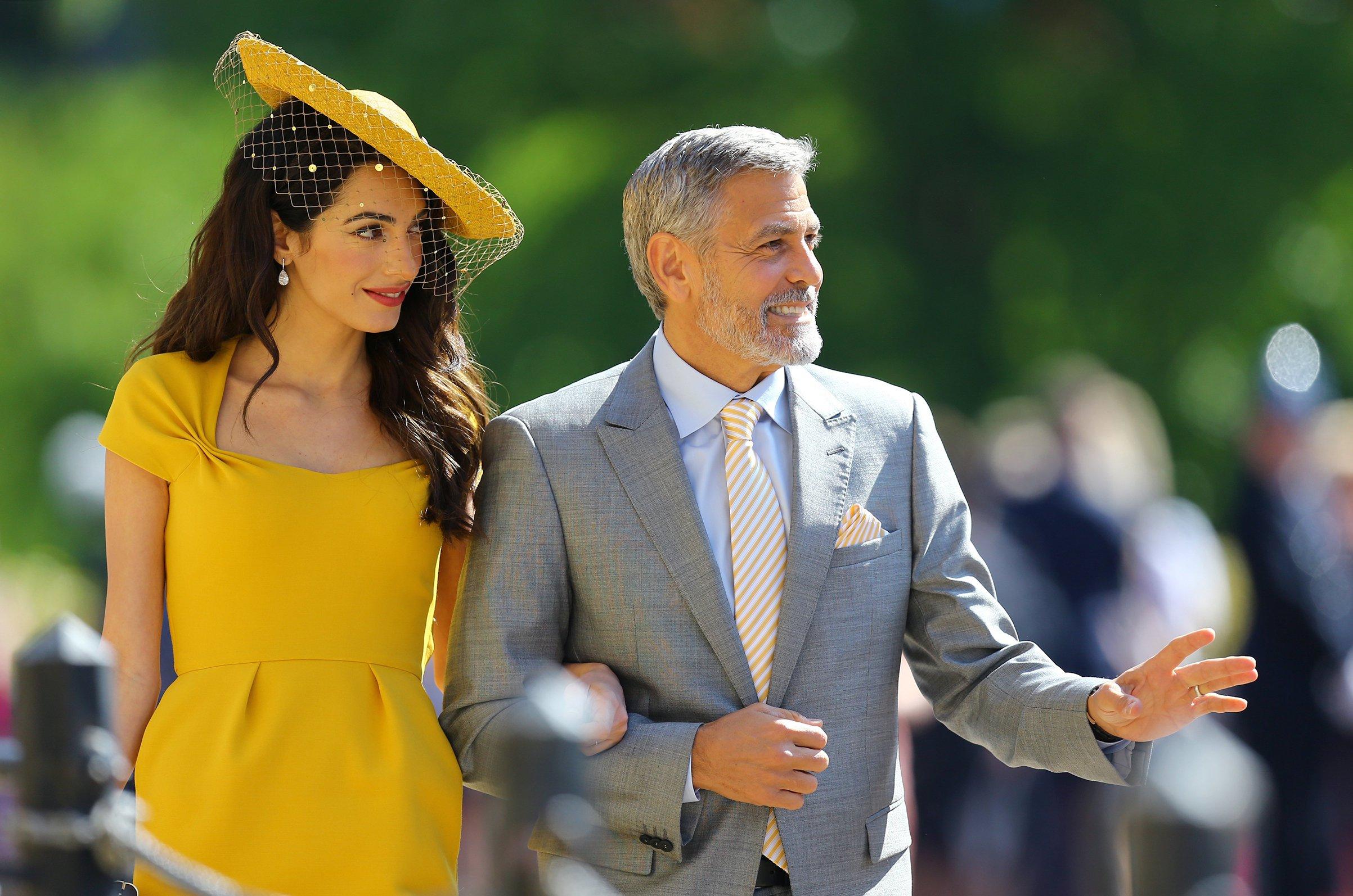 George and Amal at the roayal wedding