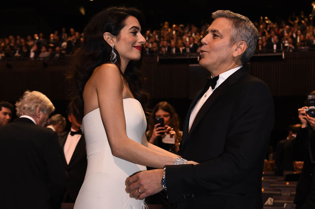 George and Amal at Ceaser Awards