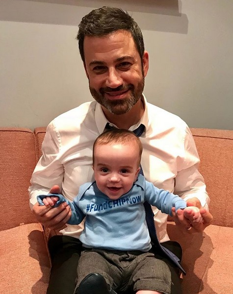 Jimmy Kimmel with his two years old son, William Kimmel