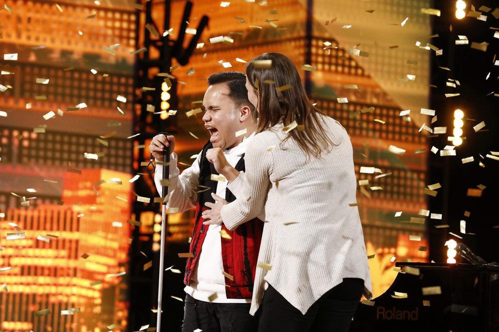 Kodi Lee happy after getting golden buzzer from Gabrielle Union in America's Got Talent season 14