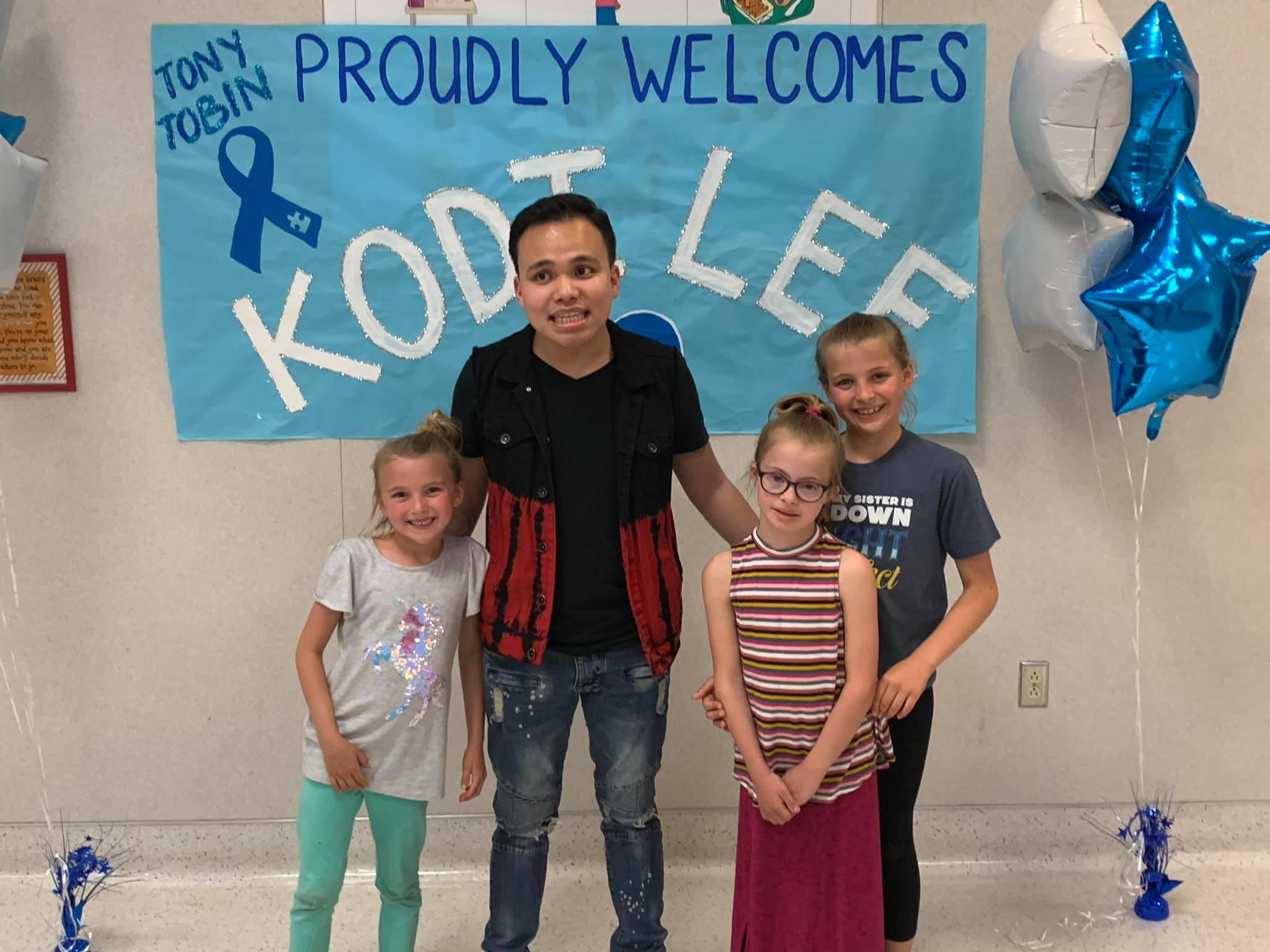 Kodi Lee photographed at Tony Tobin Elementary School
