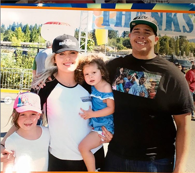Allysa Rose with her family. She has a daughter, Emma Rose with her first husband, Josh Rose. She gave birth to her second daughter, Brooklyn Monroe Wanke with her boyfriend, Chris Wanke