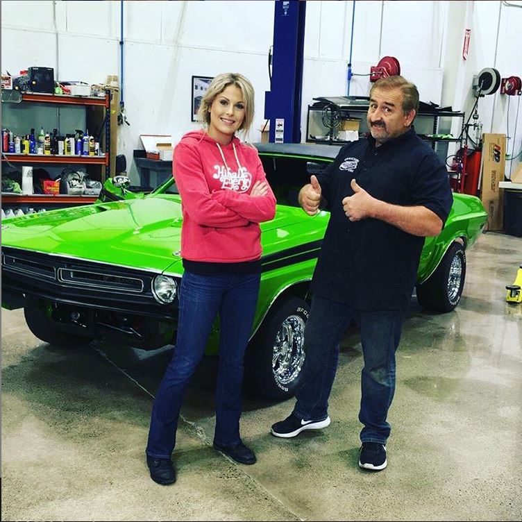 Graveyard Carz star Allysa Rose with her father, Mark Worman who is also the producer and the director Graveyard Carz.