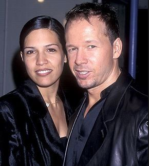 Kimberly Fey with her ex-husband, Donnie Wahlberg. The two got divorced after 9 years of marriage.