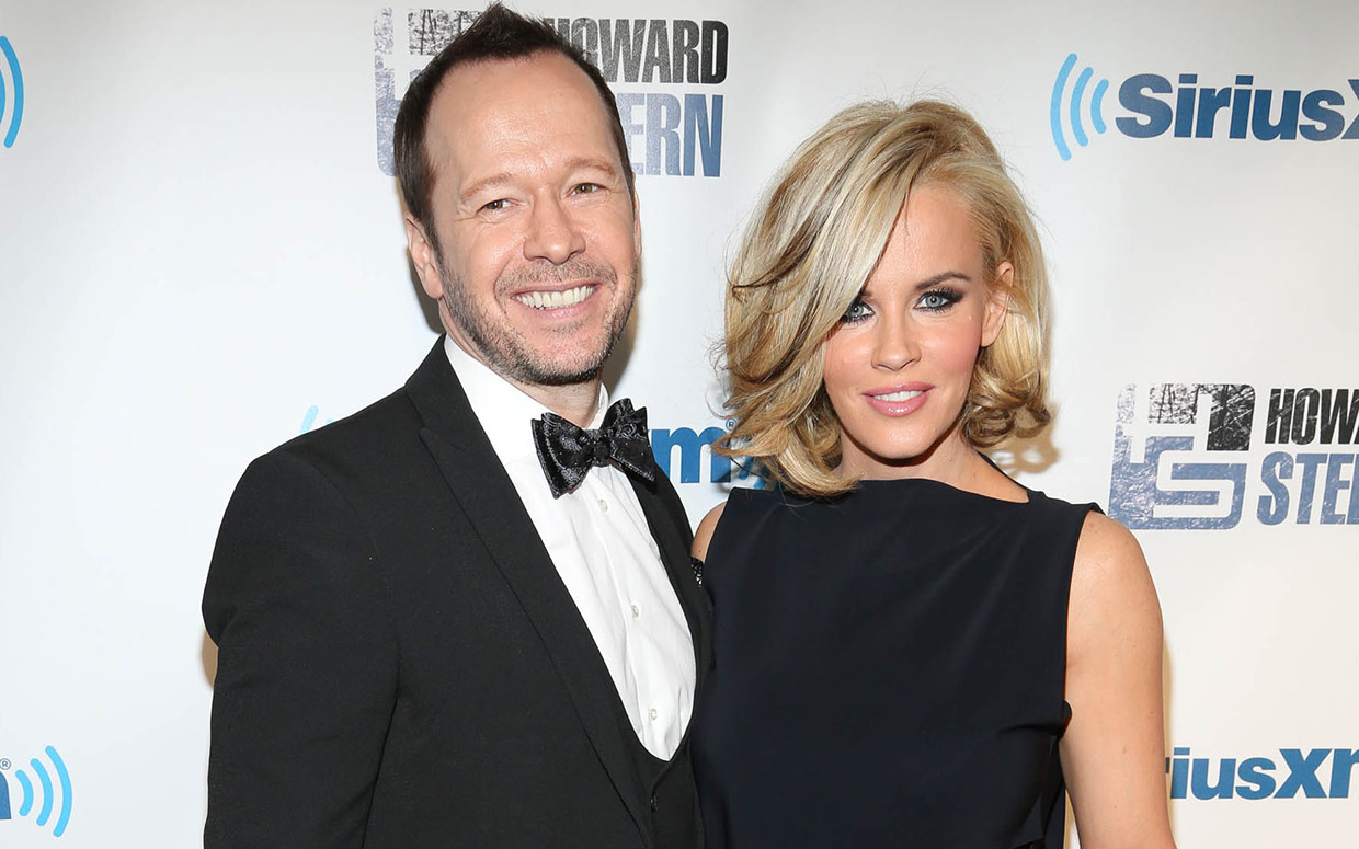 Kimberly Fey's ex-husband, Donnie with his second wife, Jenny McCarthy. They got married in 2014.