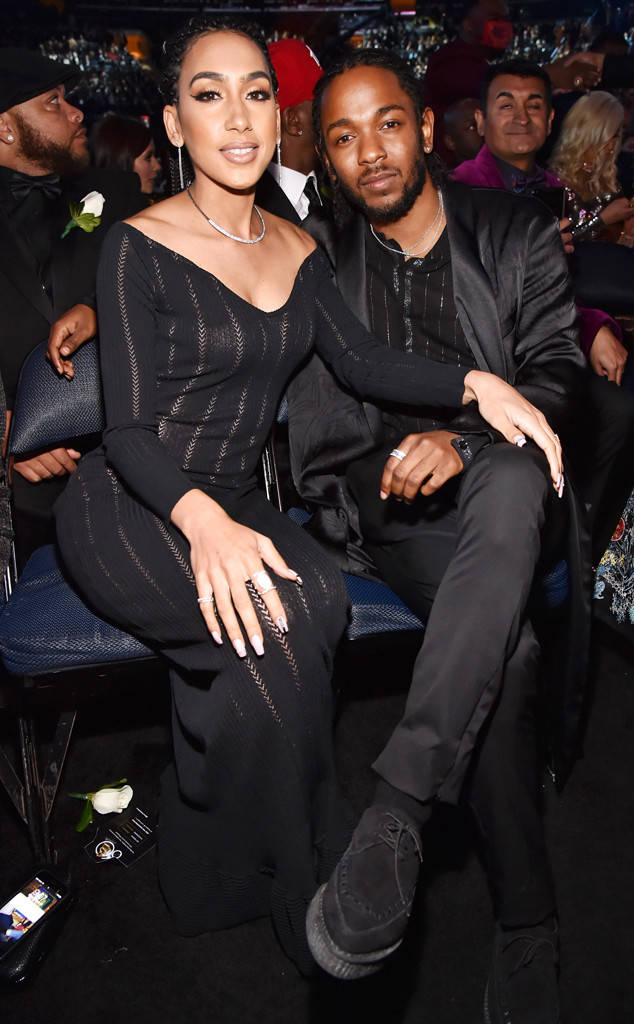 Whitney Alford and Kendrick Lamar at the Annual Grammy Awards