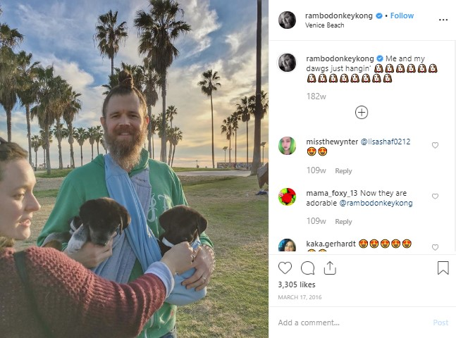 Molly Cookson with husband, Ryan Hurst in the Venice Beach