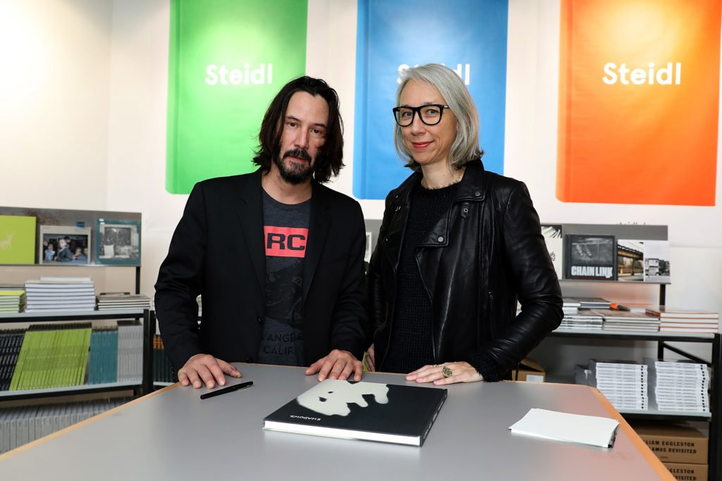 Alexandra Grant has published 2 books with her current lover, Keanu Reeves called Ode to Happiness and Shadows