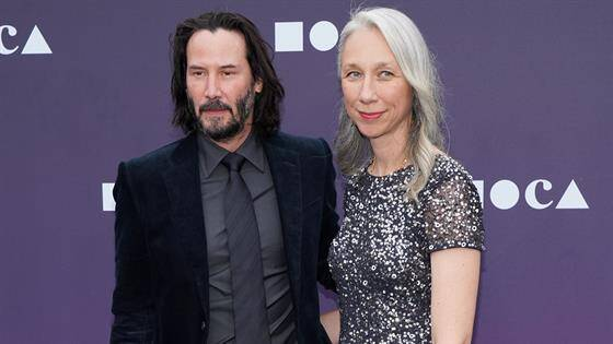 Artist Alexandra Grant with her new lover Keanu Reeves