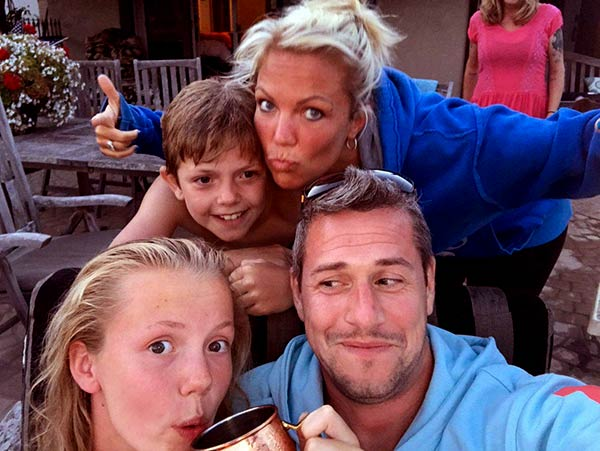 Louise Anstead and ex-husband Ant Anstead with her two kids Amelie and Archie