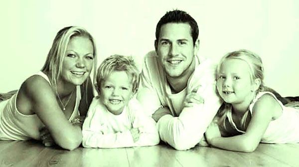 Louise Anstead with ex-husband Ant Anstead and two children