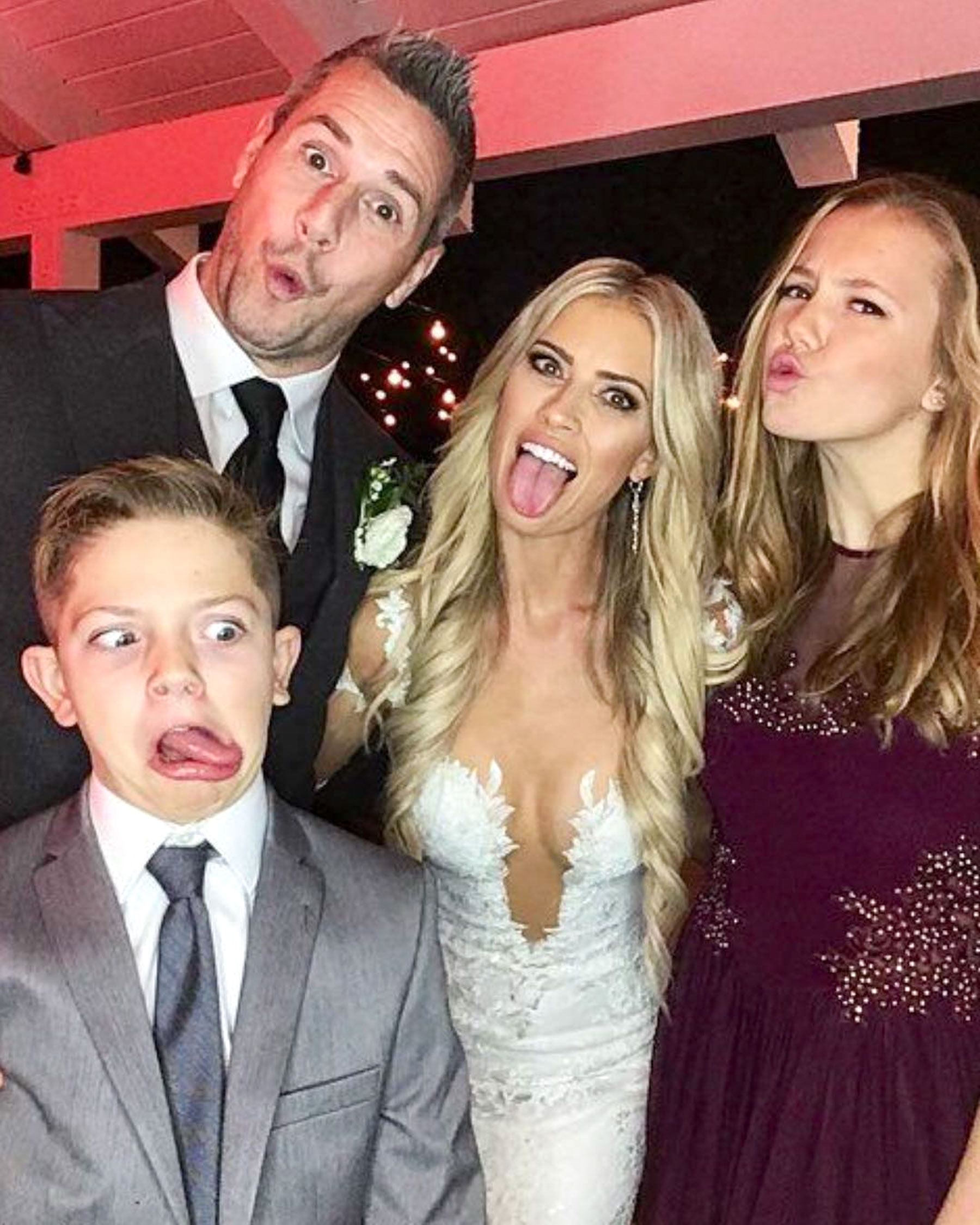 Ex-husband of Louise Anstead, Ant Anstead with new wife Christina and kids Amelie and Archie