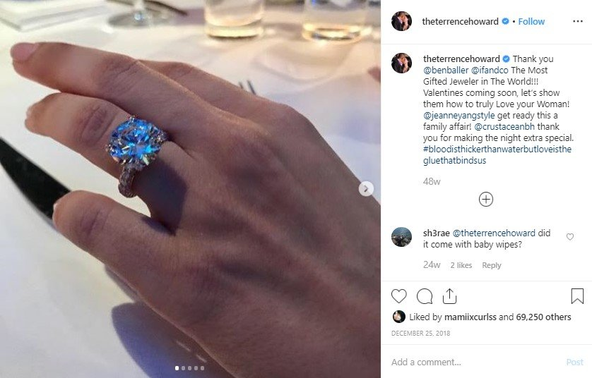 Actor Terrence Howard proposed former wife Miranda Pak at at the restaurant Crustacean, Beverly Hills