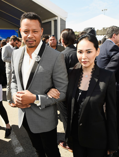 Miranda Pak with fiancee Terrence Howard at the 2017 Film Independent Spirit Awards - Cocktail Reception