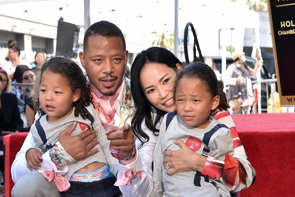 Miranda Pak with former husband Terrence Howard and two kids