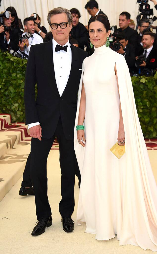 The Love Actually star, Colin Firth with wife Livia Giuggioli at the Oscars